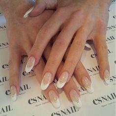 Es nail salon, melrose ave.  French studded talon nails.  #beauty