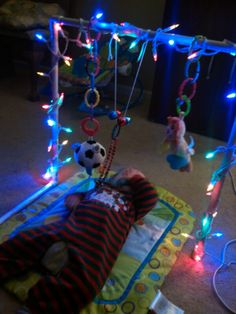 Pvc Toy bar with LED lights, occupational therapy, vision therapy Gross Motor Activities, Sensory Activities, Toddler Activities, Activity Box, Sensory Rooms, Vision Therapy, Adaptive Equipment, Special Needs Kids, Occupational Therapy