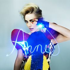 """Norwegian pop maven Annie. """"Don't Stop"""" cover art. That hair. That dress. That pose. That's that shit."""