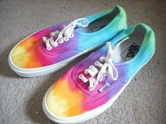 Tie dye custom Vans shoes- I do want to do this #DIY