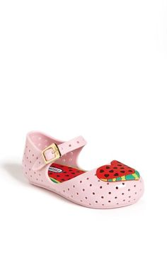 So sweet! Watermelon heart mary janes.