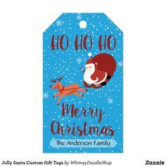 Jolly Santa Custom Gift Tags