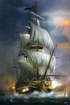 Pirate Ship Bedroom in 2019 Xanders Ships Ship paintings Old