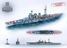 Naval History, Military Weapons, Navy Ships, Royal Navy, Battleship, Warfare, World War Ii, Camouflage, Concept Art