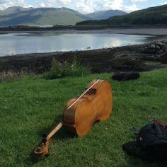 Cello by a loch in Scotland