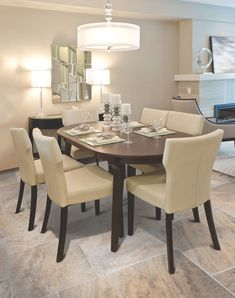 nicely decorated and served living ( lunch ) room table. Dining Room Light Fixtures, Dining Room Lighting, Luxury Dining Room, Dining Room Design, Living Room Interior, Living Room Decor, Modern Kitchen Tables, Furniture Design, Interior Design
