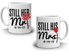 Still Her Mr and Still His Mrs Marriage Wedding Anniversary for Couples Gift Mug, Printed on Both Side! Wedding Anniversary Quotes, Anniversary Gifts For Him, Anniversary Ideas, Couple Mugs, Couple Gifts, Coffee Lover Gifts, Gifts In A Mug, Coffee Lovers, Indoor Wedding Ceremonies