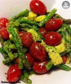 Asparagus, Tomato and Avocado Salad.. For Recipe visit: www.facebook.com/theteadetox #theteadetox #diet #detox #salad