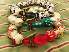 Mackenzie Angel Bracelets💗 Ornament Wreath, Ornaments, Christmas Wreaths, Angel, Holiday Decor, Bracelets, Home Decor, Style, Swag