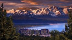 Lake Tahoe straddles the California-Nevada border and is one of the most popular vacation destinations in the west. While skiing… Lake Tahoe Nevada, South Lake Tahoe, Lake Tahoe Vacation Resort, Lake Tahoe Resorts, Lake Tahoe Casinos, Tahoe Hotels, Best Resorts, Hotels And Resorts, Luxury Resorts