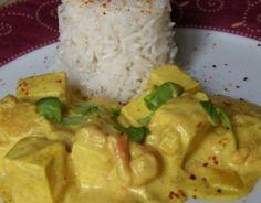 Recette - Curry de tofu au lait de coco | Notée 4.3/5