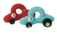 Sebra gehaakte rammelaar raceauto