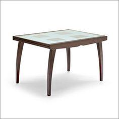 enterprise glass square extending table
