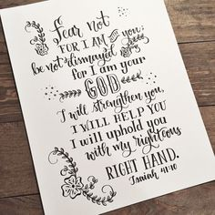 This is an 8.5x11 hand lettered print. This comes on white card stock and is mailed in a rigid envelope to protect from bending.  Other colors of card stock available by request only.