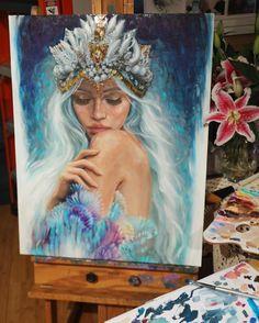 Art Public auctions: Early American Art – Buy Abstract Art Right Painting & Drawing, Painting Prints, Art Vampire, Mermaid Art, Mermaid Crown, Art Auction, Oeuvre D'art, Painting Inspiration, American Art