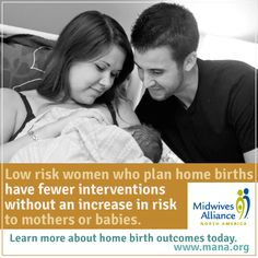 Peer-reviewed, landmark study confirms home birth is safe! I wish that I'd been low-risk. I would have loved to deliver at home!