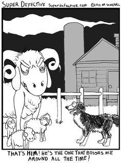 Don't let that overgrown fleece-bag intimidate you, Dog!