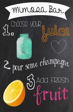 Mimosa Bar Chalkboard Sign on Etsy, $7.99