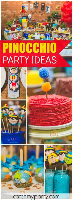 So many incredible details at this Pinocchio birthday party! See more party ideas at CatchMyParty.com!