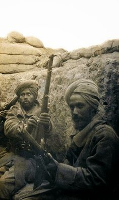 British Paintings: Sikh soldiers of 29th Indian Infantry Brigade 1915
