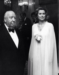 Alfred Hitchcock with Grace Kelly