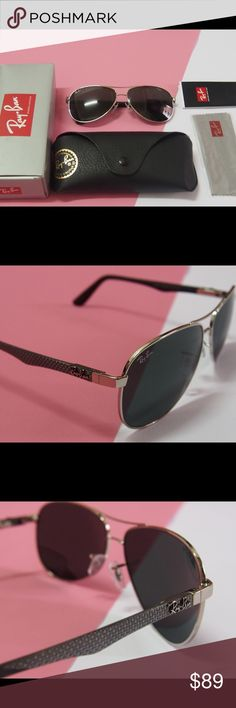 RB aviators carbon fiber sunglasses NWT RB aviators carbon fiber sunglasses  100% authentic and brand new No scratches  You can check the carved letters on the surface of the glasses Ray-Ban Accessories Sunglasses