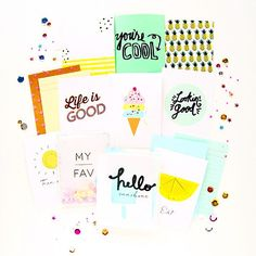 Summer love paper kit - scrapbooking via inspire lovely etsy | Flickr