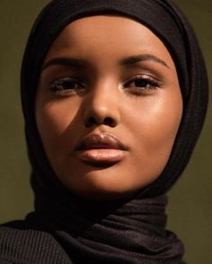 Duckie Thot, Slick Woods, Leomie Anderson, and Halima Aden for Fenty Beauty photographed by Inez Van Lamsweerde and Vinoodh Matadin Short Kinky Twists, Muslim Women Fashion, Model Face, Beautiful Hijab, Beautiful Goddess, African American Hairstyles, African Beauty, Interesting Faces, Beautiful Black Women