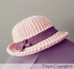 ♥ Little Hat Crochet Pattern in English US (size 3 to 6 month baby) ♥ Petit…