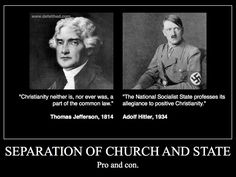Seperation of church and state- quit pushing your religion on me! I believe in god but I can't stand most of the other people who do! The bible is not to be taken literally, my goodness.
