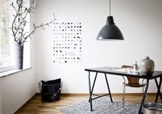 IKEA SPOTTED // VIKA LERBERG trestle in gray, VIKA AMON table top in black-brown  GET THE LOOK @ IKEA // This rug very well may be from IKEA, but trying to find an exact color match online is proving to be difficult. TheGÅSER high pile rugis a good look-a-like.  (source)