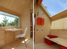 Cool interior for micro modern prototype by Renzo Piano