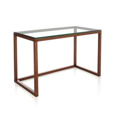 "Anderson Desk  | Crate and Barrel -  48""Wx24""Dx29.5""H $400 -- can you put a keyboard tray on this?  probably not.  cart under?"