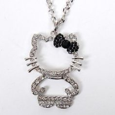 Hello Kitty Figure Necklace Pendant Bow knot Silver on amazon today for just $6.20 + Free Shipping Find it here by clicking on the picture. see more great deals on jewelry at www.ddsgiftshop.com/jewelry