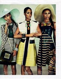 Anais Mali, Jasmine Tookes, and Jourdan Dunn for W Magazine March 2012