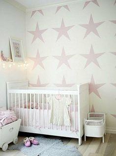 papel estrellas rosas
