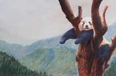 Beautiful Panda taken from Drawing & Painting Wild Animals by Vic Bearcroft.