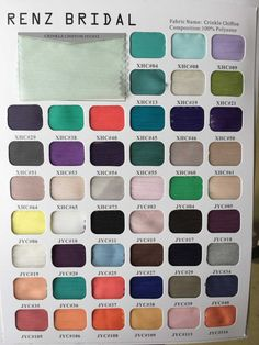 Swatch Book with over 180 colors by RenzRags on Etsy