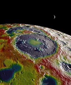 A Psychedelic Gravity Map of the Moon's Surface  The map was made with data from NASA's Gravity Recovery and Interior Laboratory (GRAIL) mission, which flew two twin probes around the moon in 2012. The washing machine-sized spacecraft orb