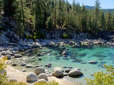 With its strong Sierra sun, enticing shoreline, and stunning natural beauty, Lake Tahoe just may embody the… Lake Tahoe Summer, Lake Tahoe Vacation, South Lake Tahoe Hikes, Lake Tahoe Hiking, South Tahoe, Mini Vacation, Vacation Ideas, Yosemite National Park, National Parks