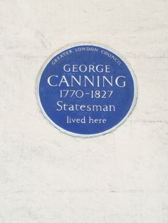 George Canning - Berkeley Square, London, W1