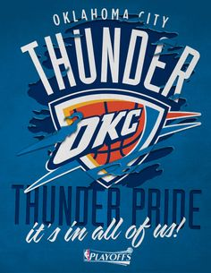 images of the OKLAHOMA THUNDER FOOTBALL LOGOS | OKC Thunder - Thunder Pride