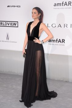 - Barbara Palvin wearing Elie Saab Ready-to-Wear Fall 2014 - amfAR's Cinema Against AIDS Gala, Presented By Worldview, Bold Films, and Bvlgari at the Annual Cannes Film Festival in Cap d'Antibes, France. Ellie Saab, Barbara Palvin, Img Models, Robes Elie Saab, Celebrity Weddings, Celebrity Style, Red Carpet Looks, Red Carpet Dresses, Cannes Film Festival
