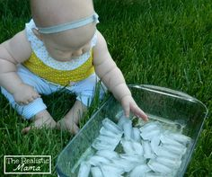 Summer Sensory Play Ice.