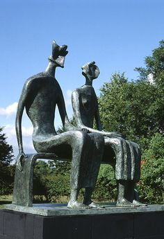 Credit: The Henry Moore Foundation Henry Moore: King and Queen, 1952–53