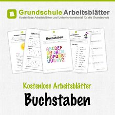 Kostenlose Arbeitsblätter und Unterrichtsmaterial für den Deutsch-Unterricht zum Thema Buchstaben in der Grundschule.