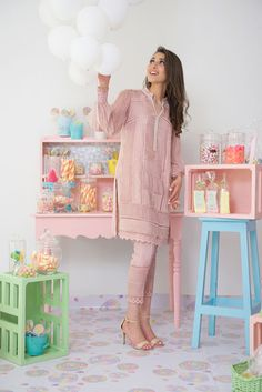 """Set to launch her highly coveted Eid summer collection; Nazli Akbar's """"Sugar rush"""" pakistani trends"""