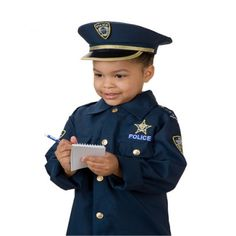 Use this Police Officer outfit for realistic role play, this outfit fits most children from 3 to 6 years of age. Police Test, Police Academy, Pretend Play, Role Play, Police Outfit, Police Officer Requirements, Dress Up Outfits, Dresses, Playing Dress Up