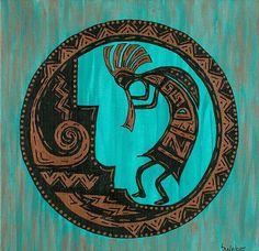 Turquoise Kokopelli Kokopelli Print by Susie WEBER In Stock • $19  Fine Art America
