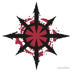 Bloody Star of Chaos Cool Symbols, Magic Symbols, Viking Symbols, Body Art Tattoos, Tattoo Drawings, Tribal Tattoos, Art Drawings, Chaos Tattoo, Warhammer 40k Art